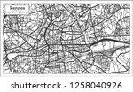 rennes france city map in retro ... | Shutterstock .eps vector #1258040926