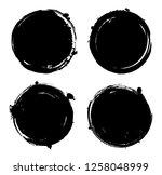 grunge round banners.grunge ... | Shutterstock .eps vector #1258048999