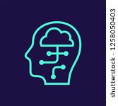 human head with cloud network...   Shutterstock .eps vector #1258050403