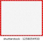 cute rectangle red and white... | Shutterstock .eps vector #1258054933
