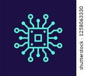 artificial intelligence vector...   Shutterstock .eps vector #1258063330