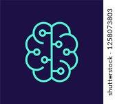 artificial intelligence vector... | Shutterstock .eps vector #1258073803