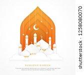 ramadan kareem islamic... | Shutterstock .eps vector #1258080070