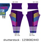 leggings pants for gym | Shutterstock .eps vector #1258082443