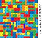 design element.  plastic block...   Shutterstock .eps vector #125808758