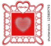 vector valentine's day heart... | Shutterstock .eps vector #125809793