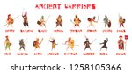 ancient warriors set with... | Shutterstock .eps vector #1258105366