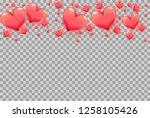 3d hearts as frame on...