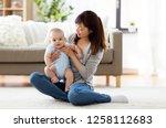 family and motherhood concept   ... | Shutterstock . vector #1258112683