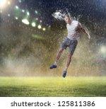 football player in white shirt...   Shutterstock . vector #125811386