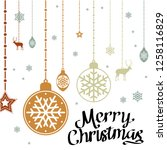 merry christmas greeting with... | Shutterstock .eps vector #1258116829