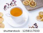 orange herbal flavored...   Shutterstock . vector #1258117033