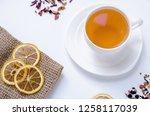 orange herbal flavored...   Shutterstock . vector #1258117039