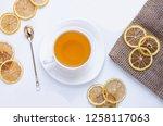 orange herbal flavored...   Shutterstock . vector #1258117063