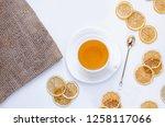orange herbal flavored...   Shutterstock . vector #1258117066