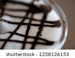 close up milk froth with... | Shutterstock . vector #1258126153