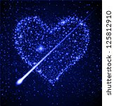 space background   star heart... | Shutterstock . vector #125812910