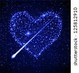 space background   star heart... | Shutterstock . vector #125812910