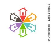 houses style selection for...   Shutterstock .eps vector #1258145833