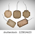 A Set Of Vector Old Cardboard...