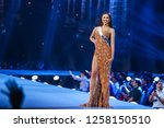 Small photo of Bangkok, Thailand - Dec 13, 2018: Catriona Gray of Philippines competes in the evening gown competition during the Miss Universe 2018 preliminary round, the final to be held in Bangkok on 17 December