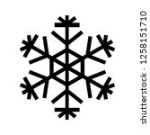 snowflake icon. beautiful six... | Shutterstock . vector #1258151710