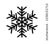 snowflake icon. beautiful six... | Shutterstock . vector #1258151713