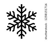 snowflake icon. beautiful six... | Shutterstock . vector #1258151716