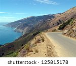 The Pacific Coast Highway in Big Sur, Northern California, also known as PCH - stock photo
