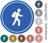 hiking icon illustration... | Shutterstock .eps vector #1258155463