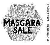 mascara sale. special offer... | Shutterstock .eps vector #1258155976