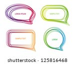 a set of vector colorful speech ...