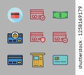 debit icon set. vector set... | Shutterstock .eps vector #1258169179