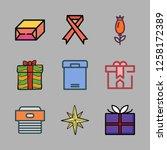 valentine icon set. vector set... | Shutterstock .eps vector #1258172389