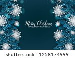 christmas party invitation... | Shutterstock .eps vector #1258174999