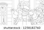 vector illustration coloring ... | Shutterstock .eps vector #1258182760