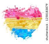pansexual flag heart | Shutterstock .eps vector #1258183879