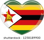 zimbabwe flag in a heart vector ... | Shutterstock .eps vector #1258189900
