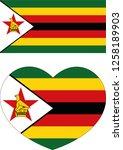 zimbabwe flag in a heart vector ... | Shutterstock .eps vector #1258189903