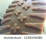 boot tread rubber texture close ... | Shutterstock . vector #1258196080