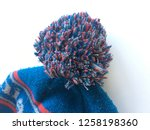 winter hat beanie bauble pom... | Shutterstock . vector #1258198360