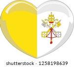 vatican flag in a heart vector  ... | Shutterstock .eps vector #1258198639