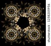 pattern on black colors.... | Shutterstock .eps vector #1258205956