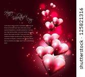 flying hearts on dark background | Shutterstock .eps vector #125821316