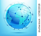 illustration of globe showing... | Shutterstock .eps vector #125822018