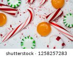 candy cane  spearmint ... | Shutterstock . vector #1258257283