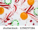 candy cane  spearmint ... | Shutterstock . vector #1258257286
