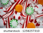 candy cane  spearmint ... | Shutterstock . vector #1258257310