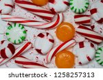 candy cane  spearmint ... | Shutterstock . vector #1258257313