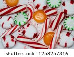 candy cane  spearmint ... | Shutterstock . vector #1258257316
